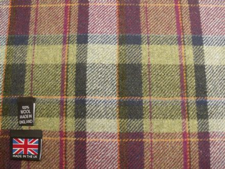 Shetland Tweed Plaid Fabric AZ94
